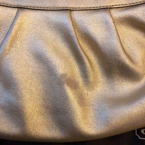 Coach Bags - Gold Metallic Leather Coach Mini Shoulder Bag